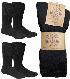 Yacht & Smith Mens Merino Wool Boot Socks With Arch Support, Cotton Wool Blend 4 pack