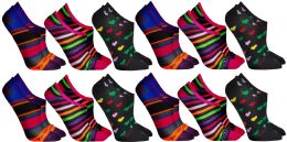 Yacht & Smith Womens Cotton No Show Loafer Socks With Anti Slip Silicone Strip 36 pack