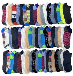 Assorted Pack Of Womens Low Cut Printed Ankle Socks Many Prints Assorted Mega Deal 2400 pack