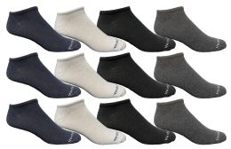 Yacht & Smith Kids Poly Blend Light Weight No Show Ankle Socks Solid Assorted 4 Colors Size 6-8 12 pack