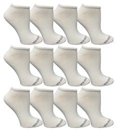 Yacht & Smith Womens 97% Cotton Light Weight No Show Ankle Socks Solid White 12 pack