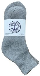 Yacht & Smith Women's Cotton Ankle Socks Gray Size 9-11 Bulk Pack 240 pack