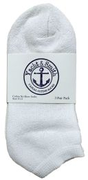 Yacht & Smith Women's Cotton No Show Ankle Socks White Size 9-11 Bulk Pack 240 pack
