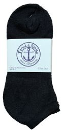 Yacht & Smith Women's Cotton No Show Ankle Socks Black Size 9-11 Bulk Pack 240 pack