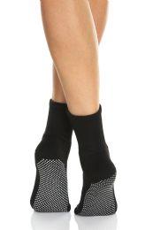 Yacht & Smith Multi Purpose Diabetic Black Rubber Silicone Gripper Bottom Slipper Sock Size 9-11 BULK BUY 120 pack
