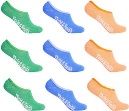 Women's Mesh No Show/Silicone No Slip Loafer Sock Liner (Pastel) 12 pack