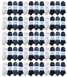 Yacht & Smith Womens Light Weight No Show Ankle Socks Solid Assorted 4 Colors 48 pack