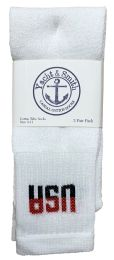 Yacht & Smith Women's Cotton Tube Socks, Referee Style, Size 9-15 White Usa Bulk Pack 240 pack