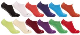 Yacht & Smith Assorted Colors Rubber Grip Bottom Cotton Slipper Socks With Terry Cushion Sole 36 pack