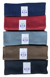 Yacht & Smith Unisex Warm Winter Fleece Scarfs Assorted Colors Size 60x12 36 pack