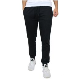 Unisex Fleece Line With Zipper Side Pockets Assorted Sizes S-XL Solid Black 30 pack