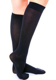 Yacht & Smith Girls Knee High Socks, Size 6-8 Solid Navy