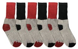 Yacht & Smith Kids Thermal Winter Socks, Cotton, Boys Girls Winter Crew Socks 6 pack