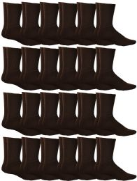 Yacht & Smith Mens Terry Cotton Brown Crew Socks Size 10-13