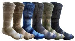 Yacht & Smith Mens Ring Spun Cotton Tie Dye Crew Socks Size 10-13 Super Soft Arch Support