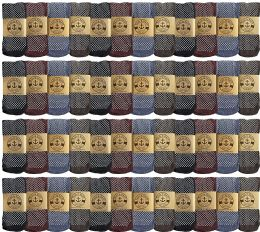 Yacht & Smith Mens Thermal Gripper Bottom Winter Socks, Warm Cold Resistant Bulk Pack 48 pack