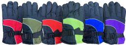 Yacht & Smith Kids Ski Glove, Fleece Lined Water Resistant Bulk Kids Winter Gloves (6 PACK ASSORTED) 6 pack