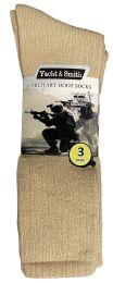 Yacht & Smith Men's Army Socks, Military Grade Socks Size 10-13 Solid Khaki