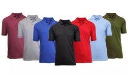Gildan Mens Assorted Color And Sizes Irregular Polo Golf Shirts 36 pack