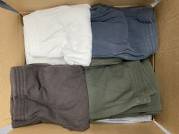 Mens Assorted Colors And Sizes Polar Fleece Joggers With Side Pockets 24 pack
