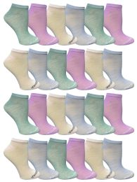 Yacht & Smith Women's Light Weight No Show Loafer Ankle Socks In Assorted Pastel 48 pack
