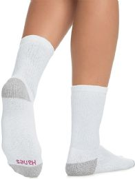 Hanes Crew Sock For Woman Shoe Size 4-10 White 60 pack
