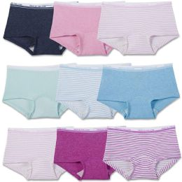 Girls Fruit Of The Loom Boy Shorts Underwear Briefs and Panty Assorted Sizes 4-14 144 pack