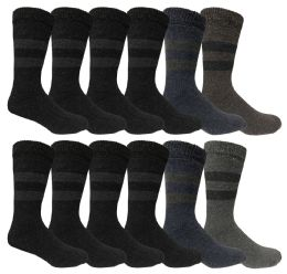 Yacht & Smith Mens Rabbit Wool Thermal Socks, Shoe Size 7-12 24 pack