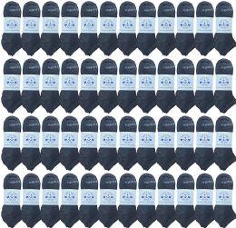 Yacht & Smith Unisex Kids Cotton Shoe Liner Training Socks, No Show, Thin Low Cut Sport Ankle Bulk Socks, 6-8 Gray