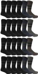BILLIONHATS Rabbit Wool Thermal Mens Socks, Winter Warm Sock for Men, Very Thick (24 Pairs) 24 pack