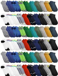 Yacht & Smith Boys Colorful Fun Printed Thin Lightweight Low Cut Ankle Socks 60 pack