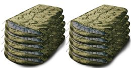 Yacht & Smith Temperature Rated 72x30 Sleeping Bag Solid Olive Green