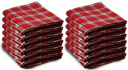 Yacht & Smith 50x60 Warm Fleece Blanket, Soft Warm Compact Travel Blanket Red Plaid