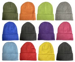 Yacht & Smith Unisex Stretch Colorful Winter Warm Knit Beanie Hats, Many Colors 36 pack