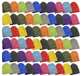 Yacht & Smith Unisex Stretch Colorful Winter Warm Knit Beanie Hats, Many Colors 240 pack