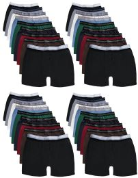 Yacht & Smith Mens 100% Cotton Boxer Brief Assorted Colors Size Medium 24 pack