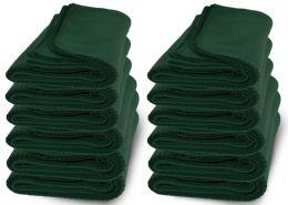 Yacht & Smith 50x60 Warm Fleece Blanket, Soft Warm Compact Travel Blanket Solid Hunter Green