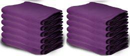 Yacht & Smith 50x60 Warm Fleece Blanket, Soft Warm Compact Travel Blanket Solid Purple