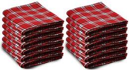 Yacht & Smith 50x60 Warm Fleece Blanket, Soft Warm Compact Travel Blanket Red Plaid