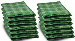 Yacht & Smith 50x60 Warm Fleece Blanket, Soft Warm Compact Travel Blanket Green Plaid