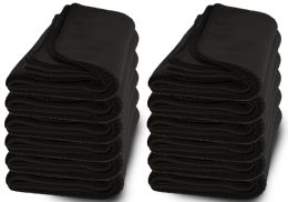 Yacht & Smith Large 90x60 Warm Fleece Blanket, Soft Warm Compact Travel Blanket Solid Black