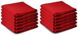 Yacht & Smith Large 90x60 Warm Fleece Blanket, Soft Warm Compact Travel Blanket Solid Red
