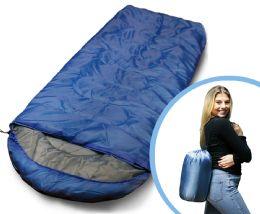 Camping Lightweight Sleeping Bag 3 Season Warm & Cool Weather Royal Blue