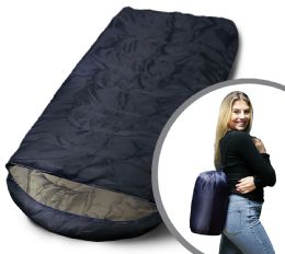 Camping Lightweight Sleeping Bag 3 Season Warm & Cool Weather Navy