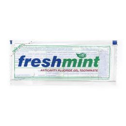 Freshmint 0.28 Oz. Single Use Clear Gel Anticavity Fluoride Toothpaste Packet