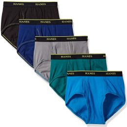 Mens Hanes Assorted Colors And Sizes Brief Underwear, Cotton Tagless Underwear For Men	M-XXL