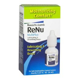 Travel Size Bausch Lomb ReNu Lubricating Rewetting Drops 0.27 oz.