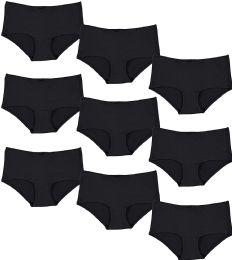 Yacht & Smith Womens Black Cotton Underwear Panty Briefs in Bulk, 95% Cotton Soft Panties - SIZE XS