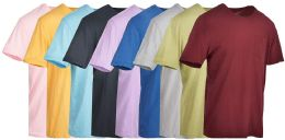 Yacht & Smith Mens Assorted Color Slub T Shirt With Pocket - Size L