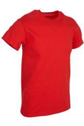 Mens Cotton Crew Neck Short Sleeve T-Shirts Red, Medium